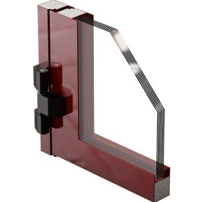 Металлические двери с остеклением